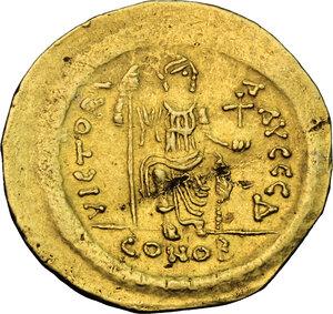 reverse: Justin II (565-578).. AV Solidus, Constantinople mint