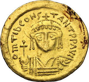 obverse: Tiberius II Constantine (578-582).. AV Solidus, Constantinople mint