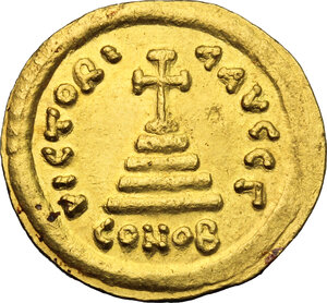 reverse: Tiberius II Constantine (578-582).. AV Solidus, Constantinople mint