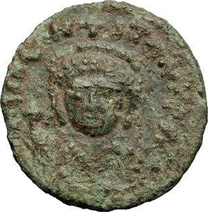 obverse: Tiberius II Constantine (578-582).. AE Decanummium, Sicilian mint