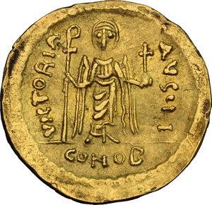 reverse: Phocas (602-610).. AV Solidus, Constantinople mint