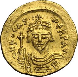 obverse: Phocas (602-610).. AV Solidus, Constantinople mint