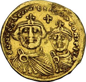obverse: Heraclius (610-641). AV Solidus, Constantinople mint