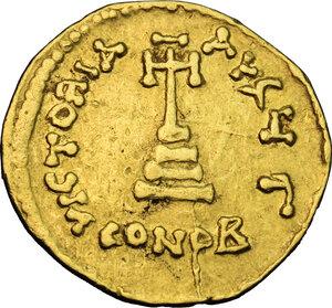 reverse: Heraclius (610-641). AV Solidus, Constantinople mint