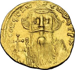 obverse: Constans II (641-668).. AV Solidus, Constantinople mint