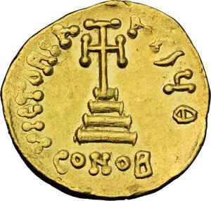 reverse: Constans II (641-668).. AV Solidus, Constantinople mint