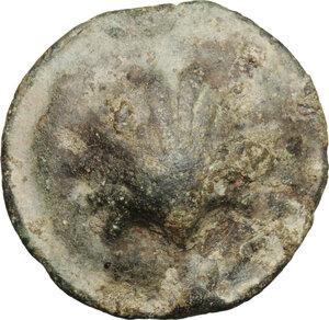 obverse: Northern Apulia, Luceria. AE Cast Biunx, c. 217-212 BC