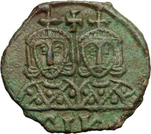 reverse: Leo IV, the Khazar (775-780). AE Follis, Syracuse mint