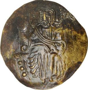 obverse: John III Ducas (1222-1254).. Debased AV Hyperpyron scyphate. Empire of Nicaea, Magnesia mint, 1222-1254