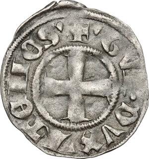 obverse: Thebe .  Guy II de La Roche (1285-1308).. BI Denier tournois