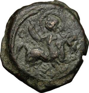 obverse: Antioch.  Roger of Salerno, Regent (1112-1119). AE Follis