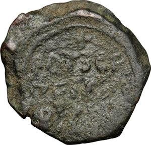 reverse: Antioch.  Roger of Salerno, Regent (1112-1119). AE Follis