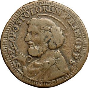 obverse: Ancona.  Pio VI (1775-1779).. Sampietrino da 2 e 1/2 baiocchi 1796