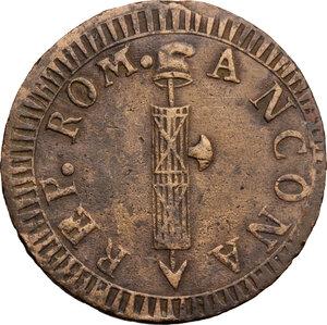 obverse: Ancona.  Repubblica Romana (1798-1799).. Due baiocchi