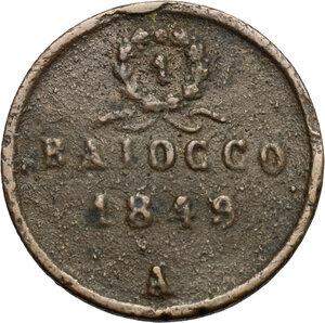 reverse: Ancona.  Repubblica Romana (1849).. Baiocco 1849