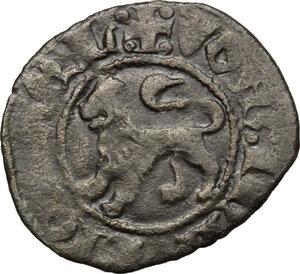 reverse: L Aquila.  Ladislao di Durazzo (1388-1414). Quattrino