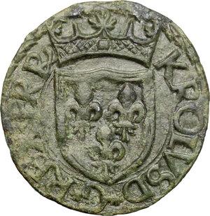obverse: L Aquila.  Carlo VIII (1495). Cavallo
