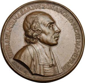 obverse: Bologna.  Ippolito Fornasari (1628-1697), Professore di Diritto Civile all'Università ed abate di San Michele al Poggio.. Medaglia 1692, per celebrare Ippolito Fornasari