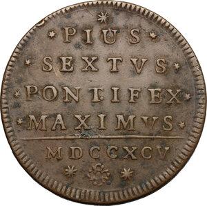 obverse: Bologna.  Pio VI (1775-1799). 2 baiocchi 1795