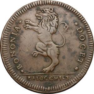 reverse: Bologna.  Pio VI (1775-1799). 2 baiocchi 1795