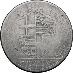 obverse: Bologna.  Governo Popolare (1796-1797). Scudo da 10 paoli 1796