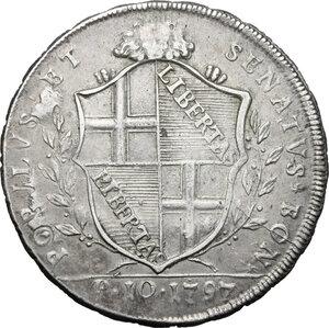 obverse: Bologna.  Governo Popolare (1796-1797). Scudo da 10 paoli 1797