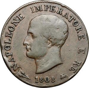 obverse: Bologna.  Napoleone (1805-1814). Soldo 1808