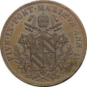 obverse: Bologna.  Pio IX  (1846-1878). 5 baiocchi 1849 A. IV