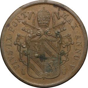 obverse: Bologna.  Pio IX  (1846-1878). 5 baiocchi 1851 A. V