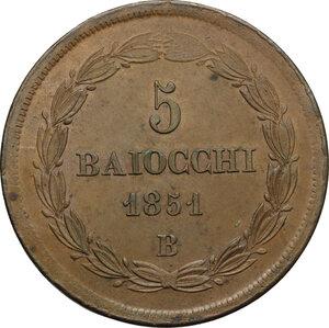 reverse: Bologna.  Pio IX  (1846-1878). 5 baiocchi 1851 A. V