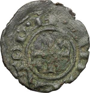 obverse: Brindisi.  Enrico VI (1191-1196) con la moglie Costanza d Altavilla. Mezzo denaro
