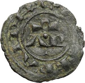 reverse: Brindisi.  Enrico VI (1191-1196) con la moglie Costanza d Altavilla. Mezzo denaro