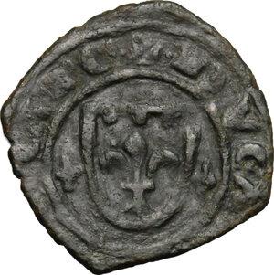 obverse: Brindisi o Messina.  Carlo I d Angiò (1266-1282). Denaro con stemma