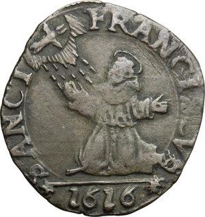 reverse: Casale.  Ferdinando Gonzaga (1616-1626). Parpagliola 1616