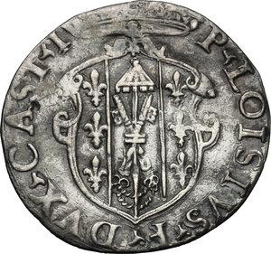 obverse: Castro.  Pierluigi Farnese (1545-1547). Grosso