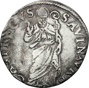 reverse: Castro.  Pierluigi Farnese (1545-1547). Grosso