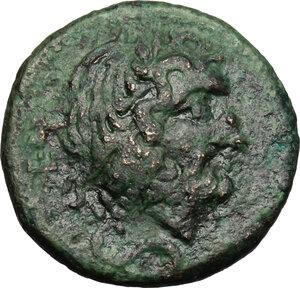 obverse: Southern Apulia, Brundisium. AE Semis, 2nd century BC