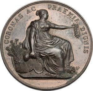 obverse: Chieti. Medaglia Esposizione Regionale Abruzzese del 1868 in Chieti, al Principe Alessandro Torlonia per il prosciugamento del Lago Fucino