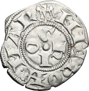 reverse: Ferrara.  Niccolò III d Este (1393-1441).. Marchesano grosso o bolognino