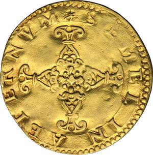 reverse: Ferrara.  Alfonso II d Este (1559-1597). Scudo d oro del sole senza data