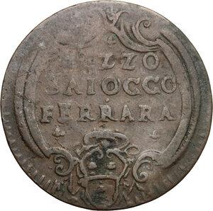 reverse: Ferrara.  Benedetto XIV (1740-1758). Mezzo baiocco A. XI