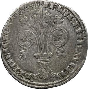 obverse: Firenze.  Repubblica (sec. XIII-1532).. Grosso guelfo da 5 soldi 1347 II sem., Giovanni di Tozzo maestro di zecca