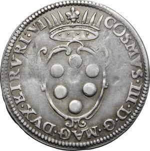 obverse: Firenze.  Cosimo III de  Medici (1670-1723). Giulio 1676