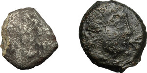 obverse: Belgic and Cisalpine Gaul. Multiple lot of two (2) unclassified coins: Insubres (?), AR Drachm imitating Massalia, Veliocasses (?), AE 14 mm