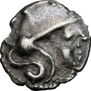 obverse: Northwest Gaul, Aulerci Cenomani. AR Unit, c. 100-50 BC