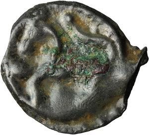 reverse: Northwest Gaul, Senones. Potin Unit, c. 100-50 BC