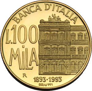 reverse: 100 000 lire 1994, Centenario della Banca d Italia