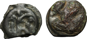 reverse: Northwest Gaul, Senones. Multiple lot of two (2) unclassified Potin Units, c. 100-50 BC