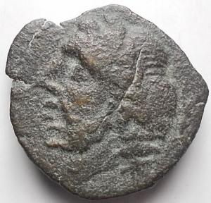 obverse: Mondo Greco - APULIA. Arpi. Ca 325-275 Ac. . g 4,23. d/ Zeus a ds dietro fulmine r/ Parte di cinghiale a sn.SNG France 1240; SNG ANS -; HN Italy 643. qBB