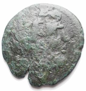 obverse: Mondo Greco -Bruttium, Rhegium.AE 23 mm. 260-212 a.C.D/ Testa di Asclepius a destra.R/ PHIN. Hygieia stante a sinistra tiene un serpente sulla mano destra protesa. RifHNI (Italy) 2560.g 5,73. MB-qBB.R